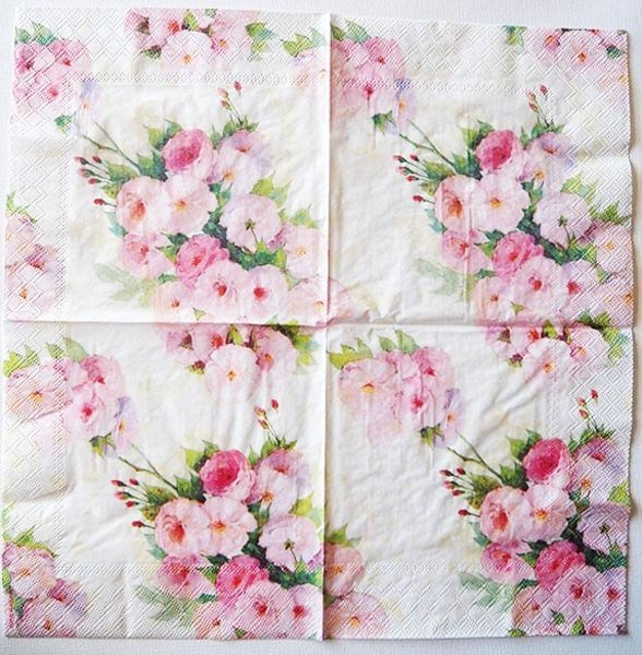 Flower paper napkins image collections flower decoration ideas wedding birthday party rose floral paper napkins 33x33cm 1 pack 20 mightylinksfo
