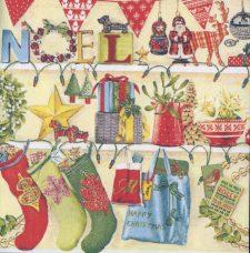 Decoupage Paper Napkins | Christmas Stockings and Decorations | Noel Napkins | Christmas Napkins | Paper Napkins for Decoupage