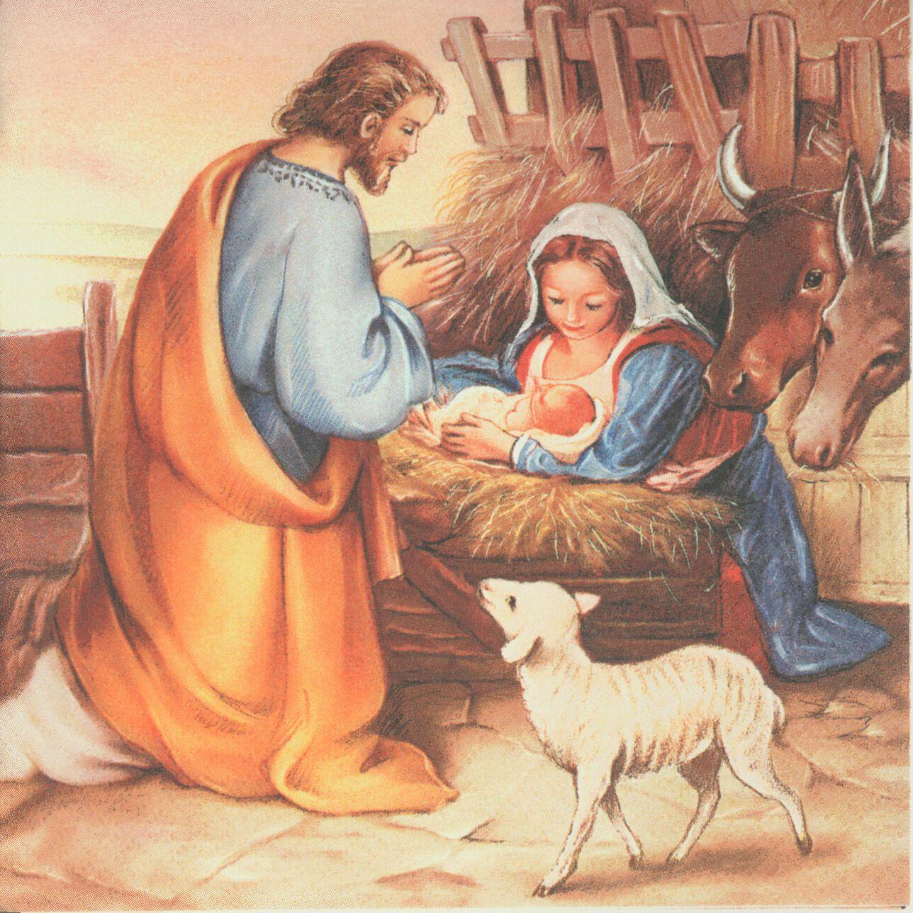 Decoupage Paper Napkin Christmas Nativity Scene Baby Jesus Manger Bethlehem CHN00021 1