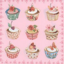 Decoupage Paper Napkins | Cupcake Napkins  | Birthday Party Napkins | Paper Napkins for Decoupage