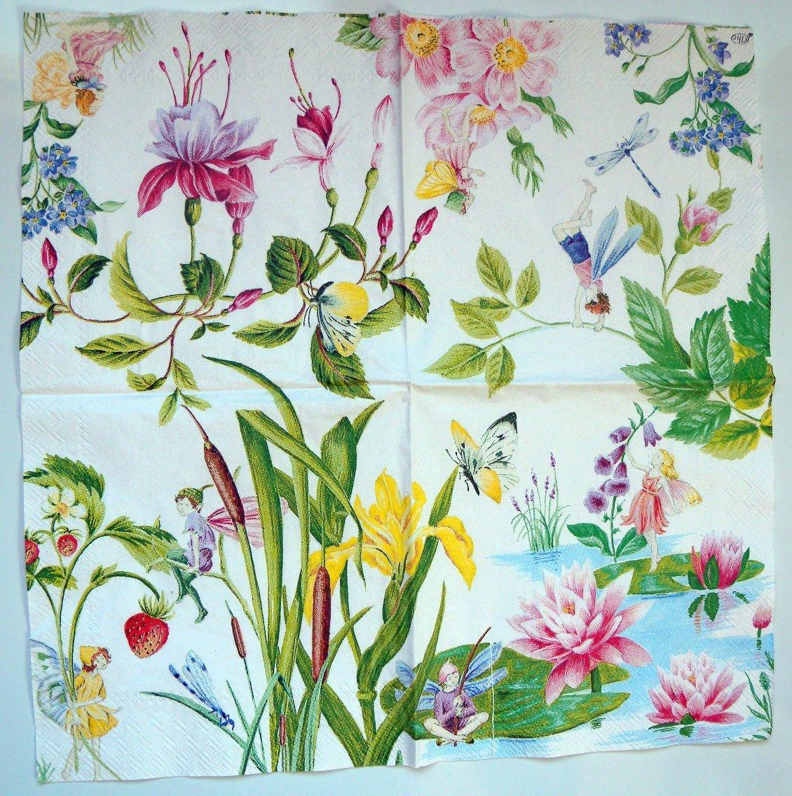 fairy garden white wallpaper - photo #42