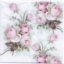 Decoupage Paper Napkins | Pastel Rose Bouquet | Rose Napkins | Floral Napkins | Napkin Decoupage | Cocktail Paper Napkins for Decoupage