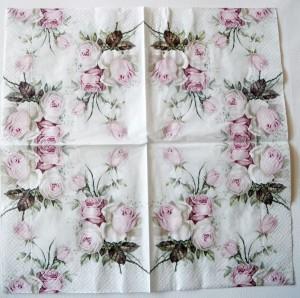 Decoupage Paper Napkins | Pastel Rose Bouquet | Rose Napkins | Floral Napkins | Napkin Decoupage | Cocktail Paper Napkins for Decoupage