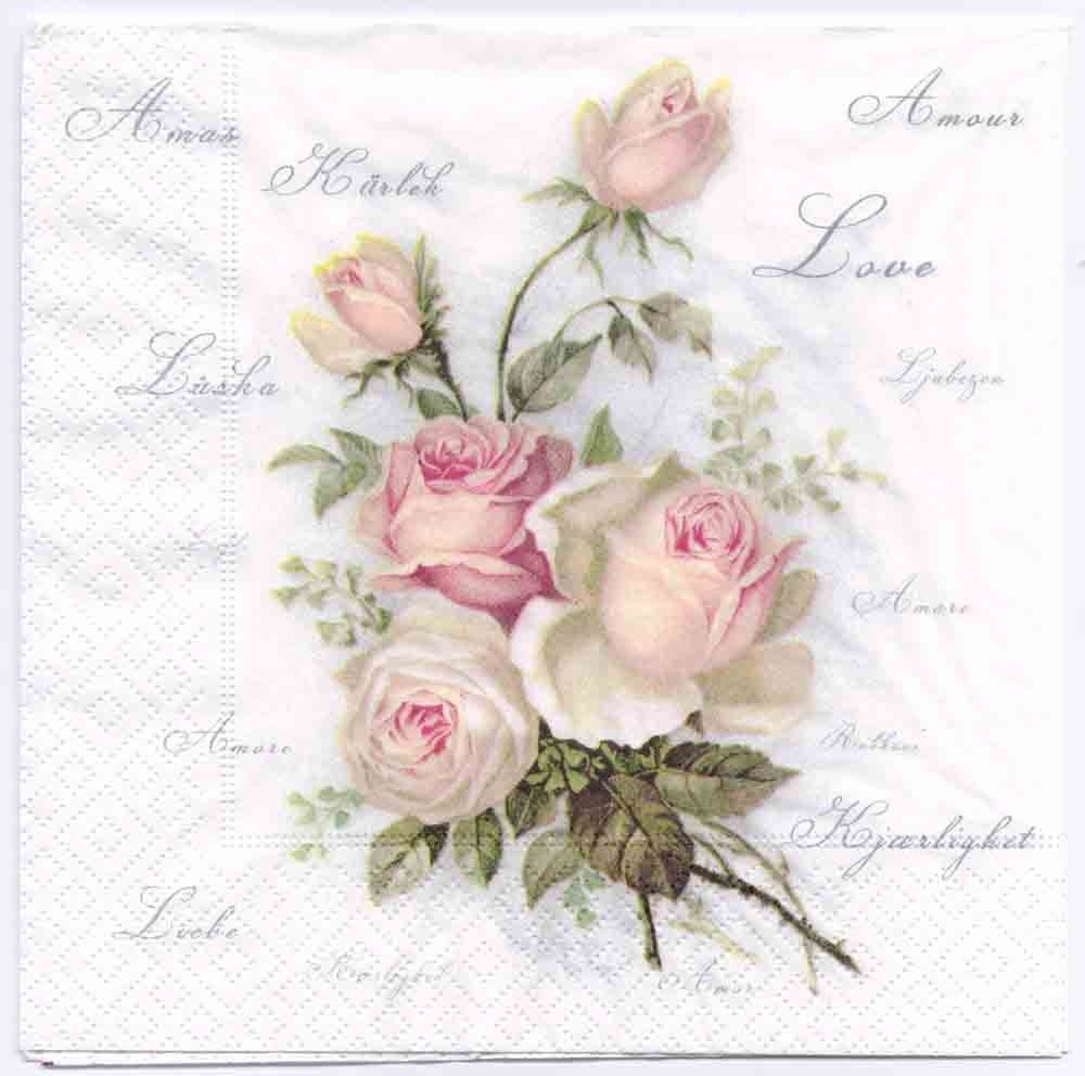 Decoupage paper napkins of roses of amour mightylinksfo