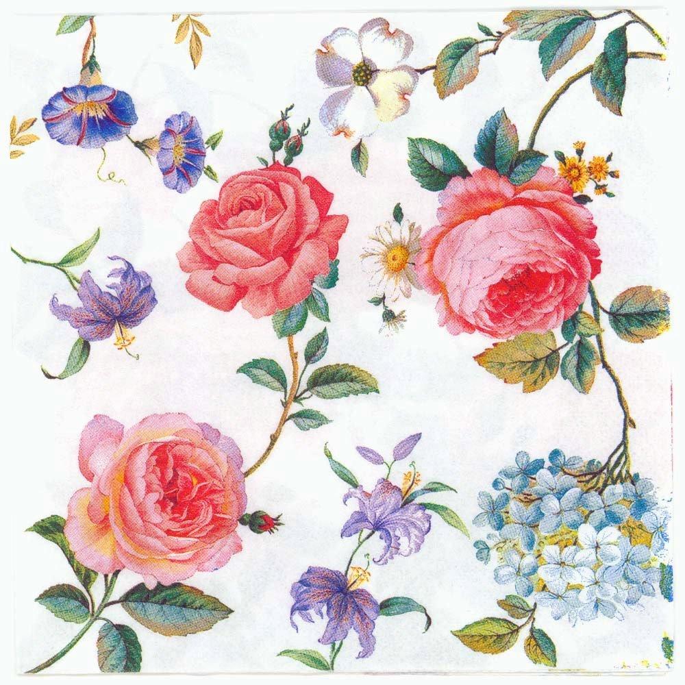 Decoupage Napkins Of Red Roses Grace Chiarotino