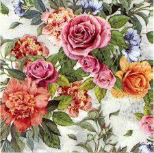 Decoupage Napkins |Floral Napkins | Anna Rose Garden Napkins |Paper Napkins for Decoupage