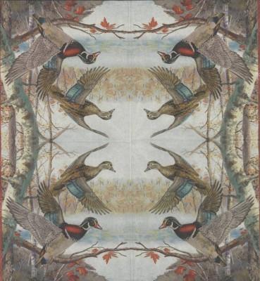 Decoupage Paper Napkins | Wild Ducks in Flight | Wildlife Napkins | Bird Napkins | Duck Napkins Nature Napkins Paper Napkins for Decoupage