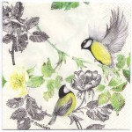 Decoupage Paper Napkins | Two Birds with a Dog Rose | Paper Napkins for Decoupage
