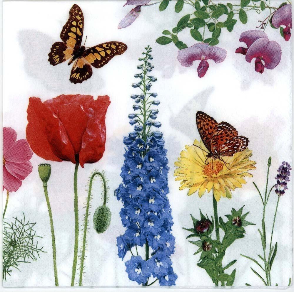 decoupage napkins of butterflies with flowers u2013 chiarotino