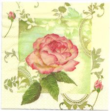 Decoupage Paper Napkins | Captivating Rose | Paper Napkins for Decoupage
