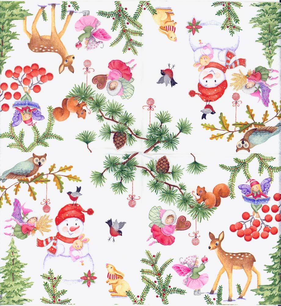 napkin art christmas tree