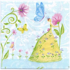 Decoupage Paper Napkins Of Fairies Flowers And Butterflies