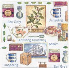 Decoupage Paper Napkins   Teas of India Tea Clipper    Tea Party Napkins Lunch Napkins   Earl Grey Darjeeling Paper Napkins for Decoupage