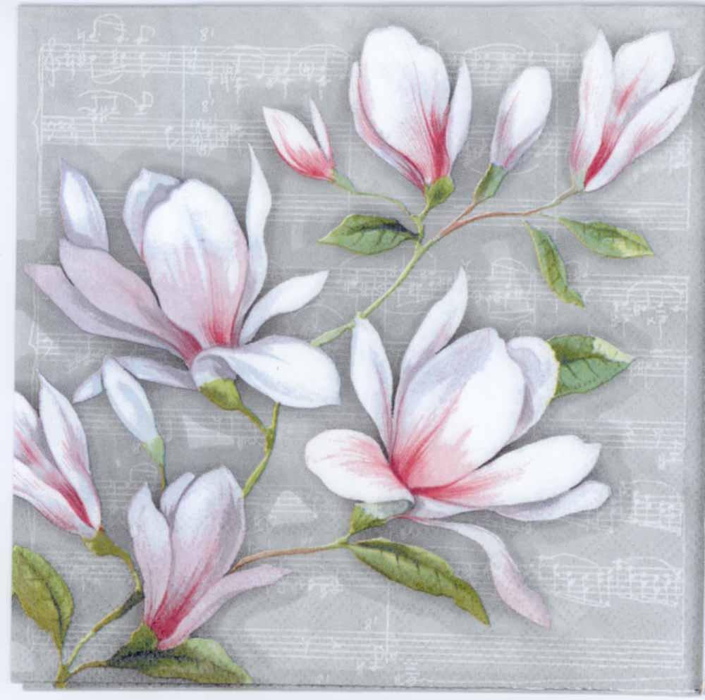 Decoupage Napkins Magnolias And Music Magnolia Napkins Music