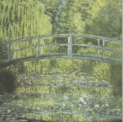 Impressionist Decoupage Paper Napkins   Monet's Bridge over Water Lily Pond    Art Napkins   Flower Napkins   Paper Napkins for Decoupage