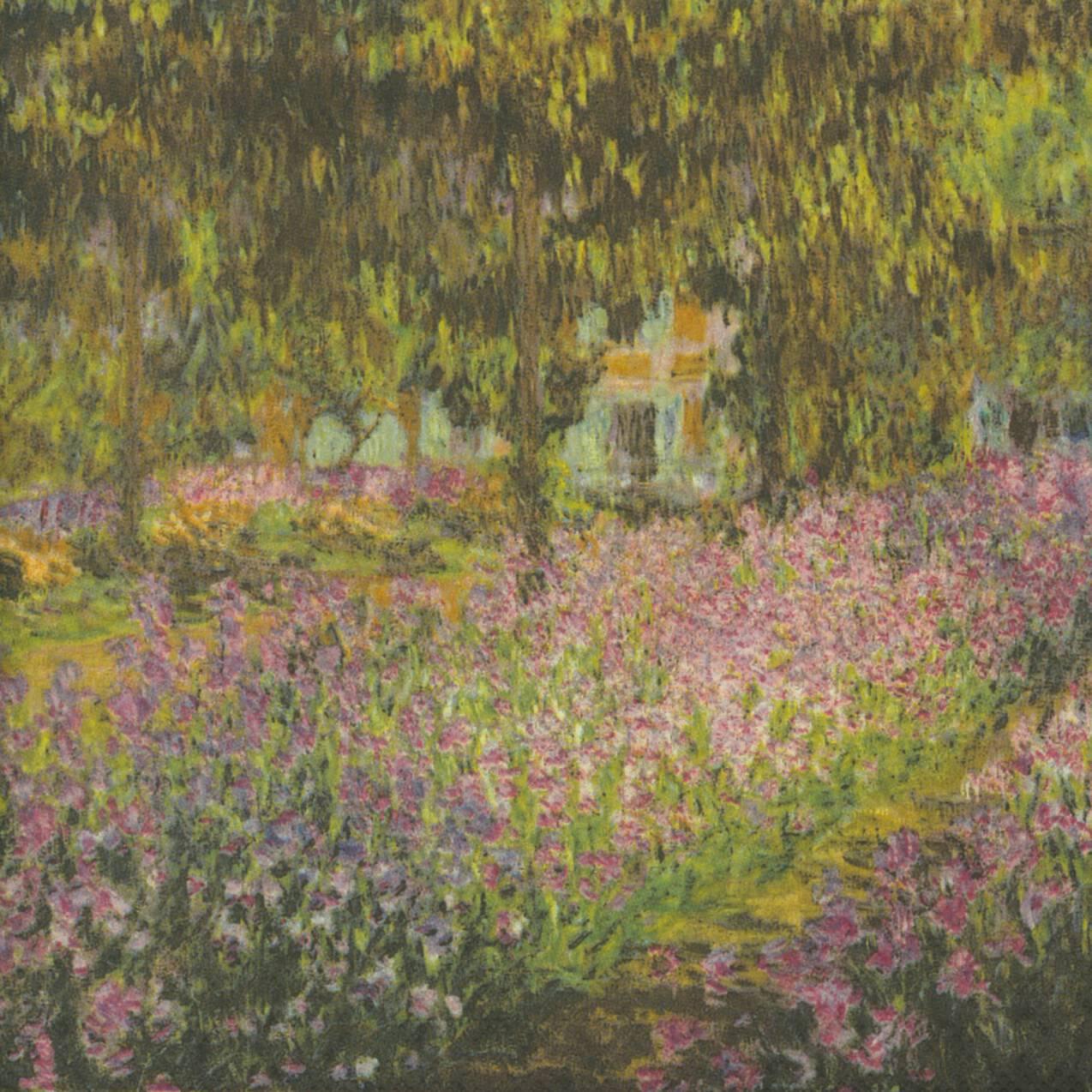 Decoupage Paper Napkins of Monet\'s Flower Garden Bed