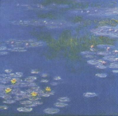 Impressionist Decoupage Paper Napkins | Monet's Water Lilies  | Art Napkins | Flower Napkins Water Lily Napkins Paper Napkins for Decoupage
