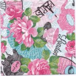 Decoupage Paper Napkins | Tea and Roses in London and Paris | Paper Napkins for Decoupage
