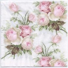 Decoupage Paper Napkins | Pastel Rose Bouquet | Design Dinner Napkins  | Paper Napkins for Decoupage