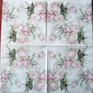 Decoupage Paper Napkins | Pastel Rose Bouquet | Design Dinner Napkins  | Paper Napkins for Decoupage