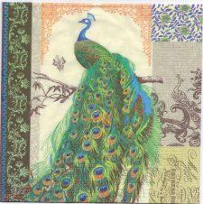 Decoupage Paper Napkins | Regnant Peacock | Design Napkins  | Paper Napkins for Decoupage