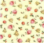 Decoupage Napkins | Flower Napkins | Tiny Roses on Cream Background | Paper Napkins for Decoupage