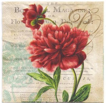 Decoupage Paper Art Napkin | Two Red Roses | Paper Napkins for Decoupage