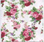 Decoupage Paper Napkins | Winsome Red Roses | Paper Napkins for Decoupage