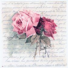 Decoupage Paper Napkins   Vintage Roses and Love Poem   Rose Napkins   Floral Napkins   Romantic Napkins   Paper Napkins for Decoupage