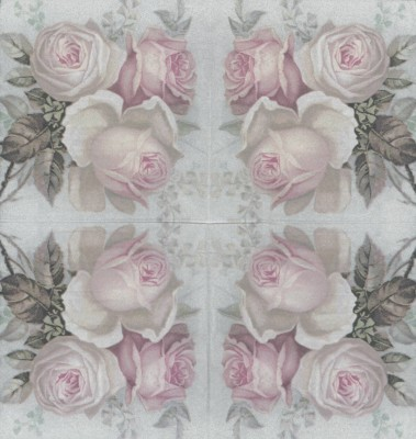 Decoupage Paper Napkins | Large Pastel Rose Bouquet | Rose Napkins | Floral Napkins | Romantic Napkins | Paper Napkins for Decoupage
