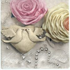 Decoupage Paper Napkins   Roses and Doves   Paper Napkins for Decoupage