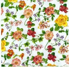 Decoupage Paper Napkins | Shower of Roses and Flowers | Paper Napkins for Decoupage