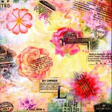 Decoupage Paper Napkins | Roses Postmarks Classifieds | Paper Napkins for Decoupage