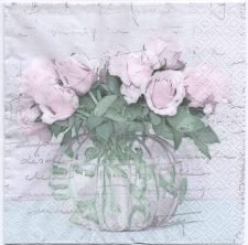 Decoupage Paper Napkins | Roses in a Vase | Paper Napkins for Decoupage