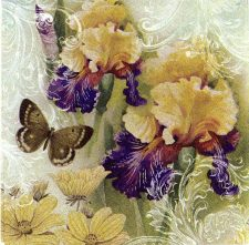 Decoupage Napkins | Flower Napkins | Orchids and Butterflies |Paper Napkins for Decoupage