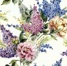 Decoupage Napkins | Floral Napkins | Summer Garden of Lilacs | Paper Napkins for Decoupage