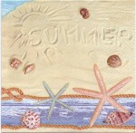 Decoupage Paper Napkins | Summer Day at the Beach Seashells Sand | Paper Napkins for Decoupage