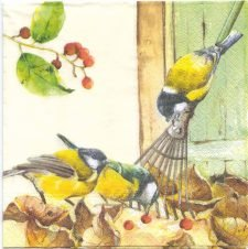 Decoupage Paper Napkins | Three Yellow Birds | Paper Napkins for Decoupage