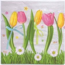 Decoupage Paper Napkins | Tulips and Daisies | Paper Napkins for Decoupage