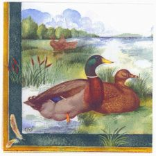 Decoupage Paper Napkins | Wild Ducks at Lake | Wildlife Napkins | Lunch Napkins | Nature Napkins | Paper Napkins for Decoupage