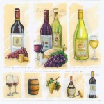 Decoupage Paper Napkins | Wine Bottles Grapes Barrels Corkscrew Cheese | Wine Napkins | Summer Party Napkins | Paper Napkins for Decoupage