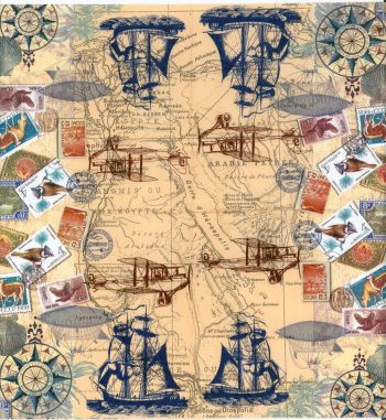Decoupage Paper Napkins of Vintage Travel World Map Tall Sailing ...