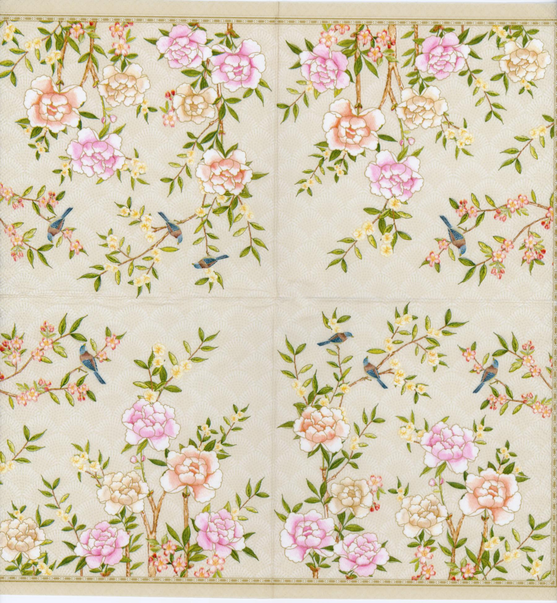 Decorative Paper Napkins Of Palace Garden In The Light