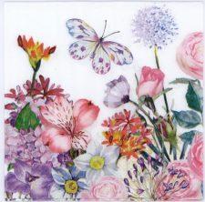 Event Paper Napkins Spring Flower Garden Butterfly