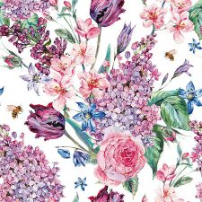 Paper Napkins Floral Arrangement