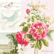 Paper Napkins French Roses Château de Valençay