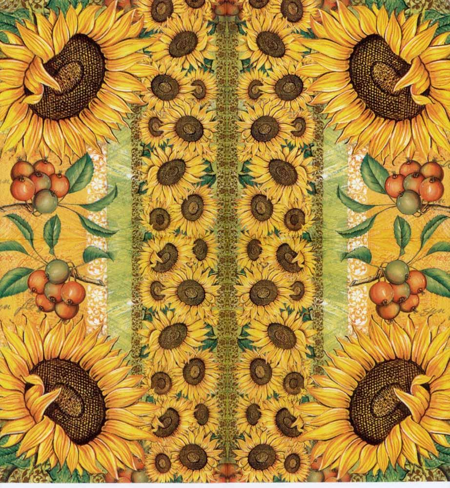 Decoupage Napkins Sunflower Napkin Sunflower Frame
