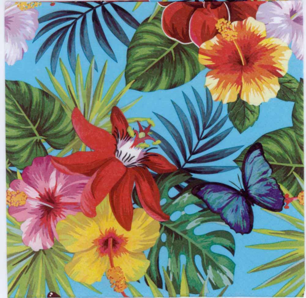 Decoupage paper napkins of tropical plantsdecorative paper napkins decoupage paper izmirmasajfo Gallery