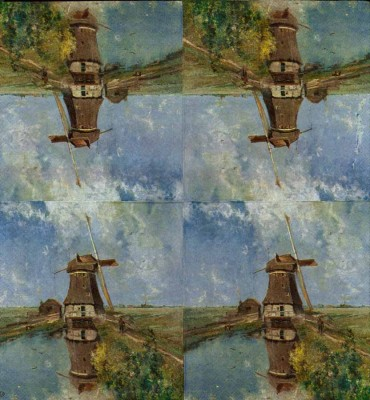 Art Paper Napkin | Dutch Windmill | Gabriels In the Month of July | Paper Napkins for Decoupage 2