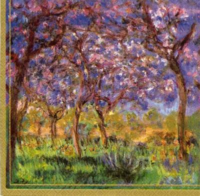 Art Paper Napkins | Monet's Printemps a Giverny | Springtime in Giverny | Paper Napkins for Decoupage 1